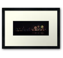 Perth Skyworks 2009  Framed Print
