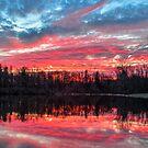 Pond at Sundown by Kenneth Keifer