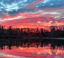 Pond at Sundown by Kenneth Keifer
