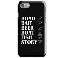 Road bait beer boat fish story Funny Geek Nerd iPhone Case/Skin