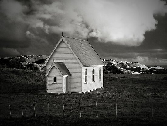 Kohekohe Church, Awhitu, Auckland NZ by Peter Denniston