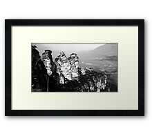 Monochrome Sisters Framed Print