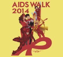 AIDS WALK 2014 One Piece - Short Sleeve