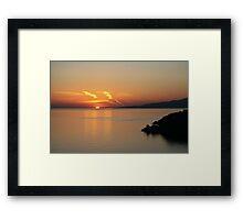 © Greek Sunset at Santorini Framed Print