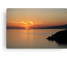 © Greek Sunset at Santorini Canvas Print