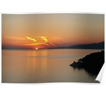 © Greek Sunset at Santorini Poster