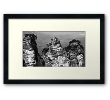 Black & White Sisters Framed Print