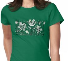 Friendly Flower Monsters Womens Fitted T-Shirt