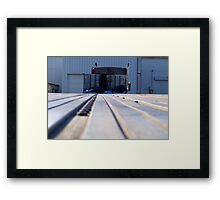 """Saying """"Good~Bye"""" to the Flatbed Trailer (for now) Framed Print"""
