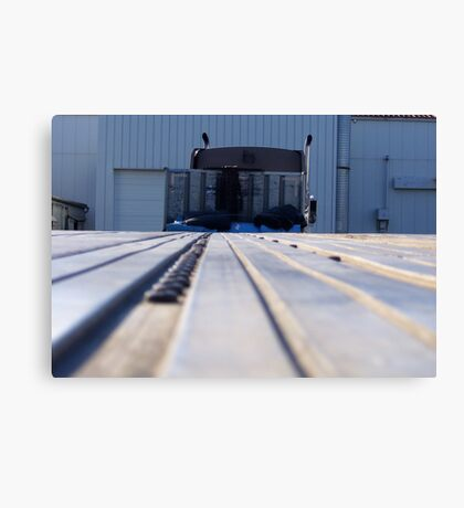 """Saying """"Good~Bye"""" to the Flatbed Trailer (for now) Canvas Print"""