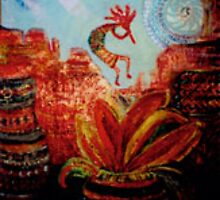 Kokopelli Dancing by AnneEliz