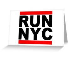 Run NYC Funny Geek Nerd Greeting Card