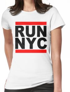 Run NYC Funny Geek Nerd Womens Fitted T-Shirt