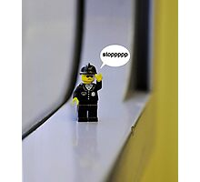 lego cop Photographic Print