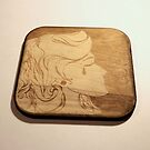 wooden cup coaster by kipishiux