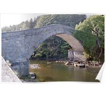 Bridge over River South Tyne. Poster
