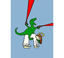 Dinosaur Riding Jesus Photographic Print