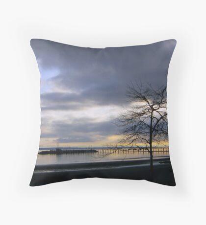 White Rock Pier Throw Pillow