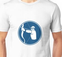 Archer Bow Arrow Circle Icon Unisex T-Shirt