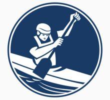 Canoeing Slalom Circle Icon by patrimonio