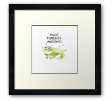 Say It With... Framed Print