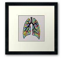Psychedelic Lungs Framed Print