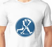 Field Hockey Player Running With Stick Icon Unisex T-Shirt