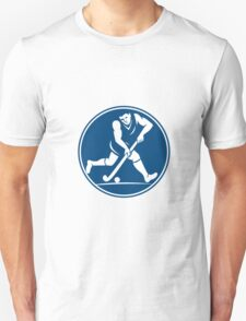 Field Hockey Player Running With Stick Icon T-Shirt