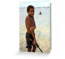 Spear Fisher Greeting Card