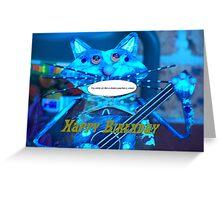 Cat a gram Greeting Card
