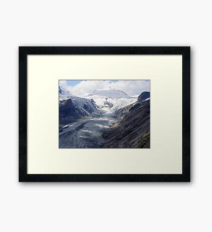 The highway of the glacier Framed Print