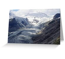 The highway of the glacier Greeting Card