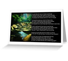 Silent Strokes Silence Speaks  Greeting Card