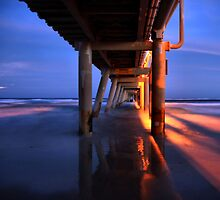 Sand Pumping Jetty Relections  by Nickie