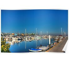 Harbor So Blue  Poster