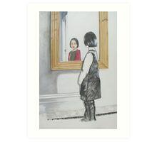 Emma in the Mirror Art Print