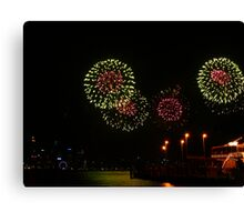 Red inside Green - Perth Skyworks 2009 Canvas Print