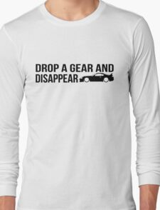 """""""Drop a gear and disappear"""" - Toyota Supra Long Sleeve T-Shirt"""
