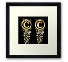Copyright Symbol Gold Leggings Framed Print