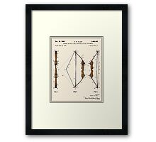 Archery Bow Patent - Colour Framed Print