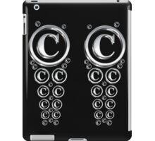 Copyright Symbol Silver Leggings iPad Case/Skin