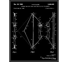Archery Bow Patent - Black and White Photographic Print