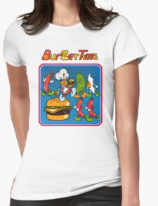 Burgertime Womens Fitted T-Shirt