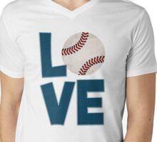Baseball Kid Mens V-Neck T-Shirt