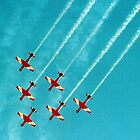 RAAF Roulettes in Wedge Formation by Bev Pascoe