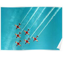 RAAF Roulettes in Wedge Formation Poster