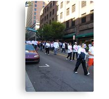 Walk for Breast Cancer Canvas Print