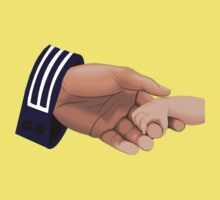 Navy Enlisted Holding Baby's Hand One Piece - Short Sleeve