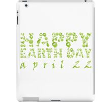 Earth Day Celebration 3 iPad Case/Skin