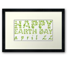 Earth Day Celebration 3 Framed Print